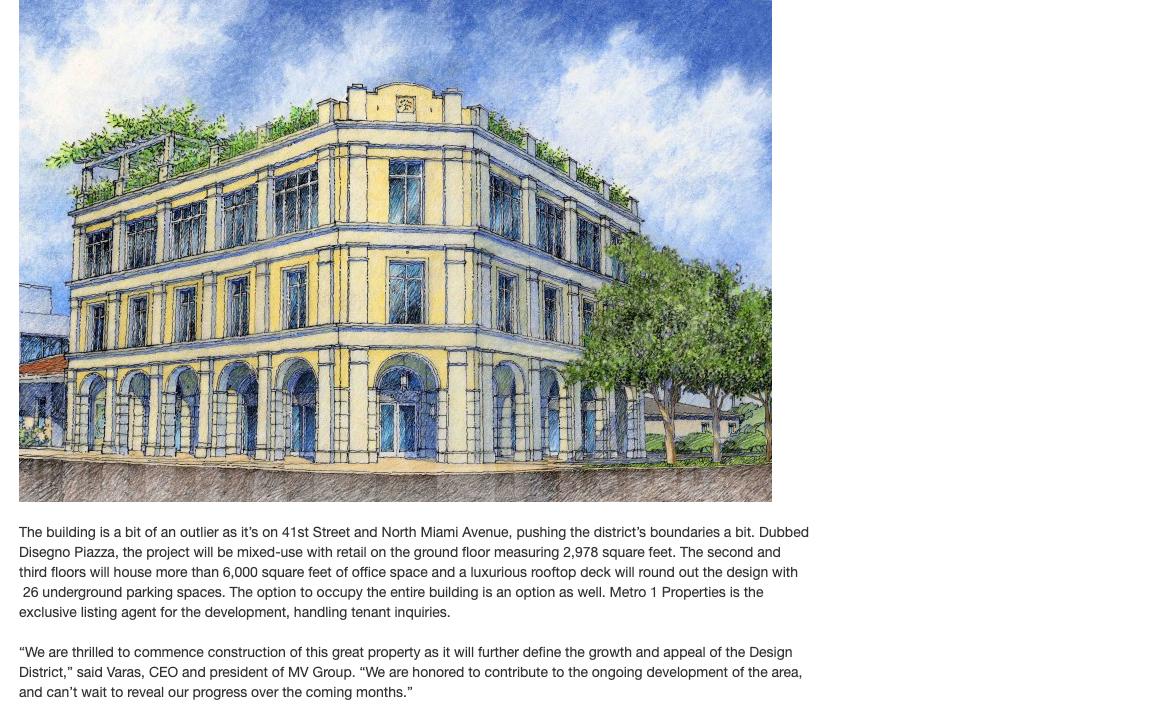 Mediterranean Mixed – Use Building Breaks Ground in Design District