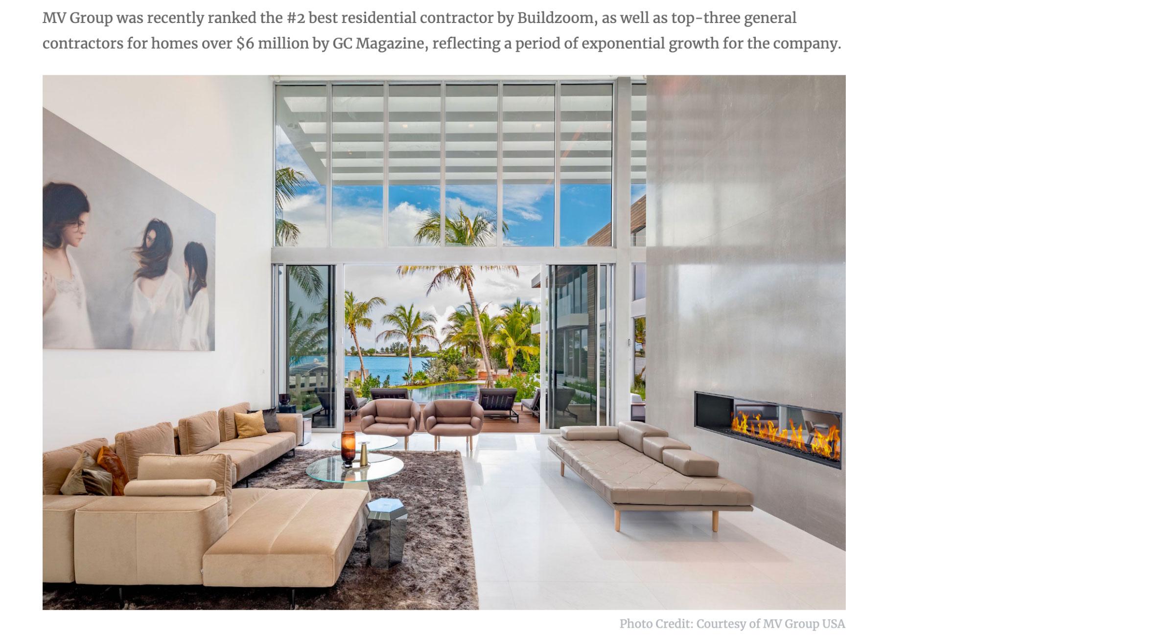 Haute Residence – MV Group Usa Built Bayfront Estate, Closes Sale for $17 Million