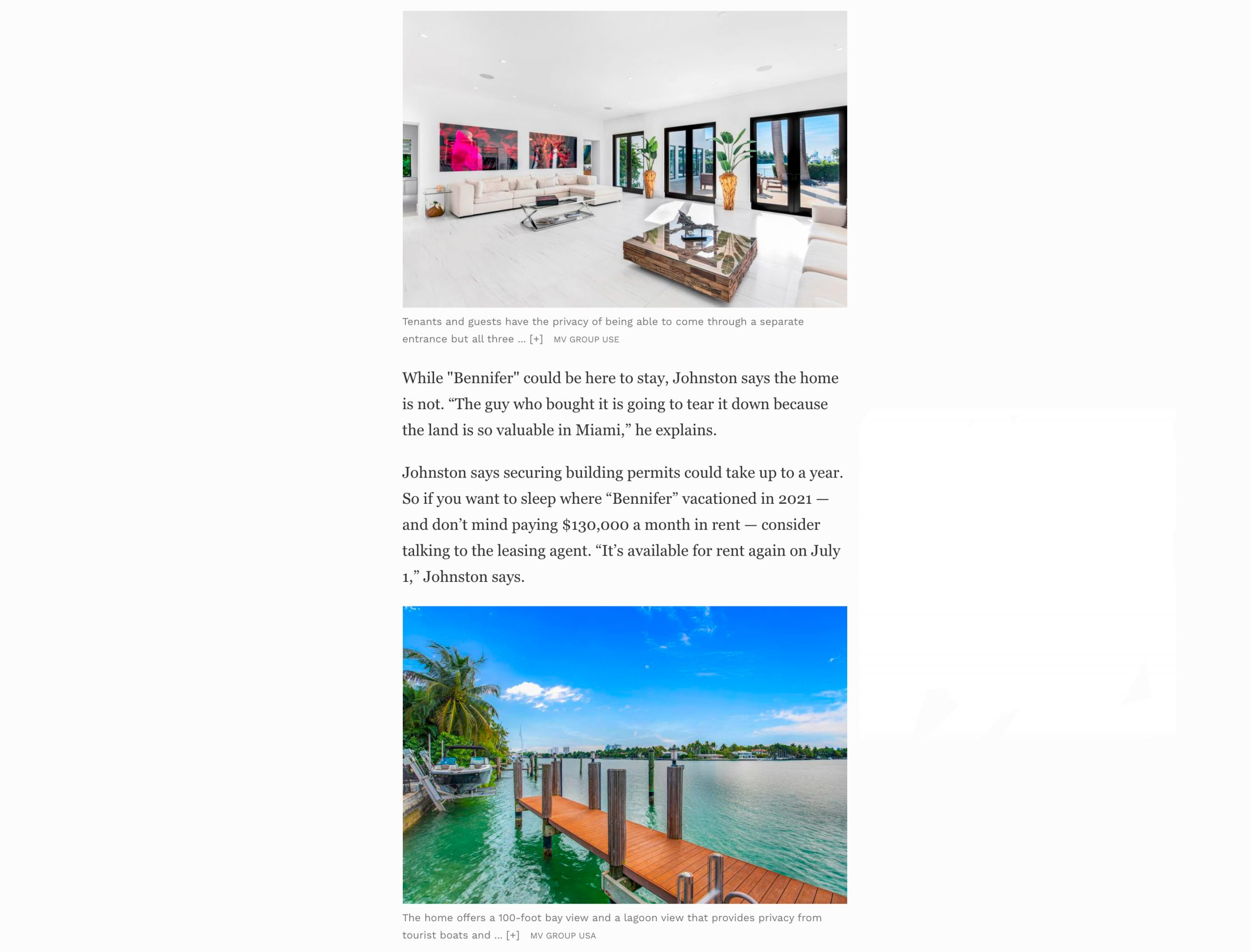 Forbes – Inside J. Lo And Ben Affleck's $17.5 Million Miami Hideaway