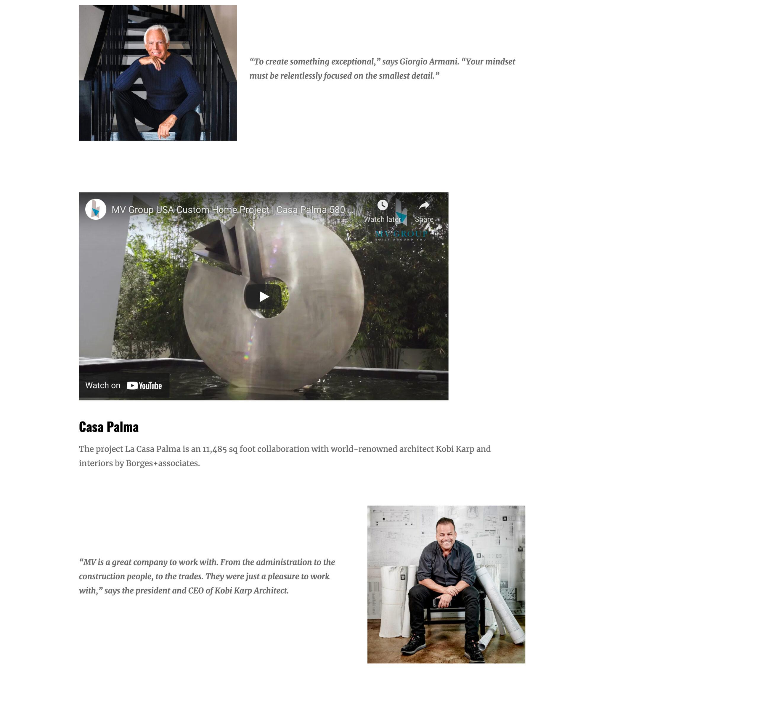 Haute Residence – Seeking Perfection, World's Top Designers Flock To MV Group USA