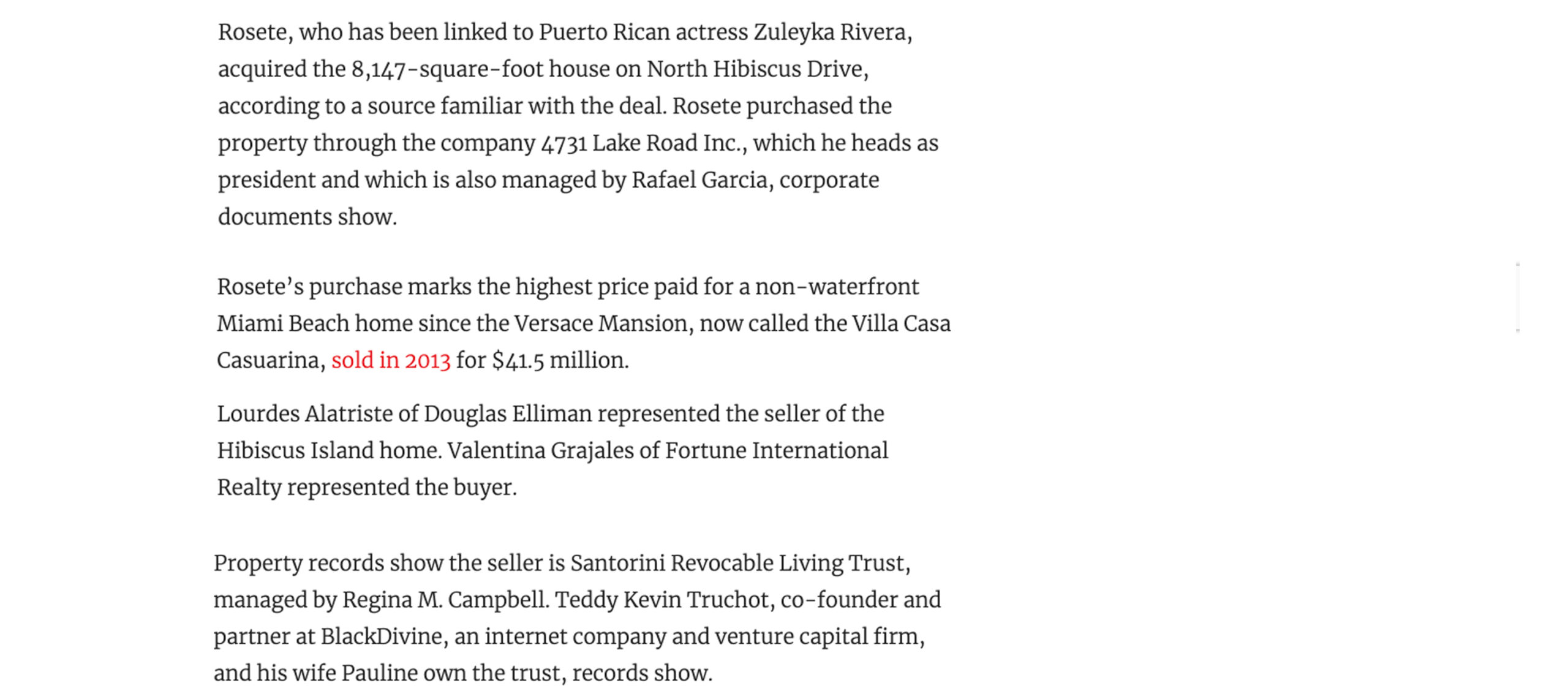 The Real Deal – Mexican film producer buys Hibiscus Island mansion
